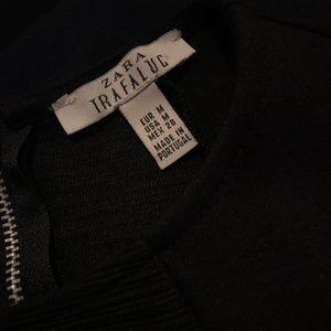 Zara Trafaluc - Black/Navy Bodycon Dress - Size M